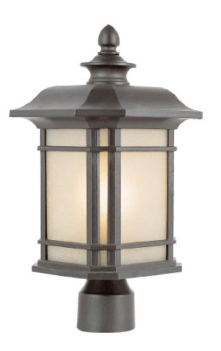 Trans Globe Lighting 5823 RT 13-Inch High Post Top Light, Rust by Bel Air Lighting [並行輸入品] B018A1OGIC