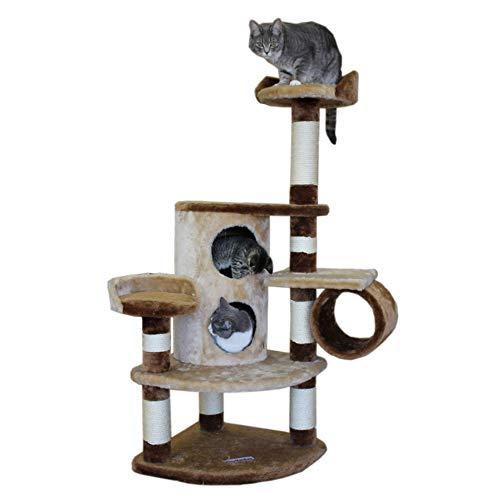 Kitty Mansions Nashville Cat Tree, Beige/Brown (Furniture Nashville)