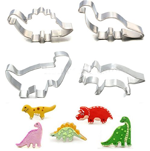 8Pcs/Set Stainless Steel Dinosaur Animal Fondant Cake Cookie Biscuit Cutter Decorating Mould Pastry Baking Tools