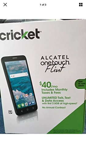 Cricket Wireless Alcatel OneTouch Flint 4G LTE 5.5 HD IPS 16GB Memory No-Contract Cell Phone