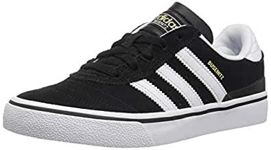 adidas Originals Men's Busenitz Vulc Fashion Sneaker, Black/White/Black, 4.5 M US