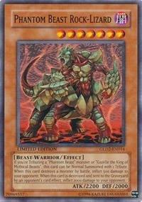 Yu-Gi-Oh! - Phantom Beast Rock-Lizard (GLD2-EN014) - Gold Series 2 - Limited Edition - -