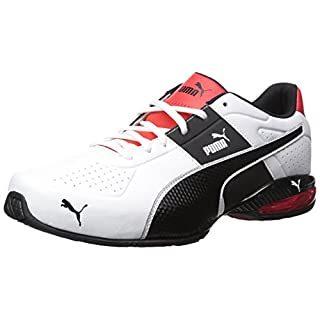 PUMA Men's Cell Surin 2.0 FM Sneaker White Black, 8 M US