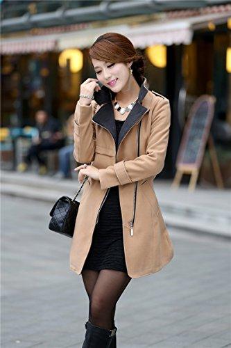 Aisuper - Abrigo - para mujer marrón claro