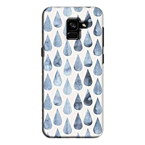 cover It Up - Raindrops Print Denim Galaxy A7 2018 Hard case