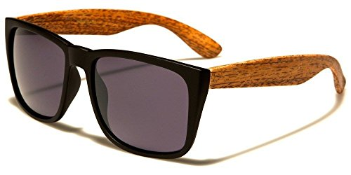 Graden Walnut Large Vintage Shades Faux Wood Arms Women Men Fashion - Den Sunglasses Wood Dragons
