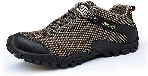 男性用スポーツシューズレースアップスタイルメッシュ生地中空軽量快適な反衝突つま先運動靴 快適な男性のために設計