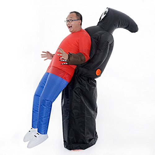 LB Inflatable Halloween Costume,Ghost embrace people Fancy Dress for Adult Kids Halloween Party (5 Last Minute Halloween Costumes Men)