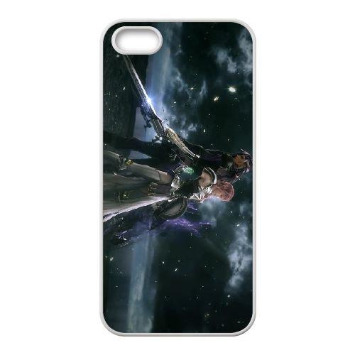 Eclair Farron Final Fantasy 001 coque iPhone 4 4S Housse Blanc téléphone portable couverture de cas coque EOKXLLNCD17951