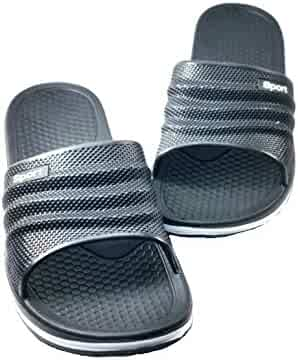 6f982a567d1e BNC Men s Rubber Sandal Slipper Perfact Cushion Shower Beach Shoe Slip on  Light As a Feather