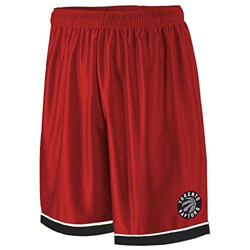NBA Toronto Raptors Adult men NBA Poly Shorts 2 Pocket,2X,Red/Black