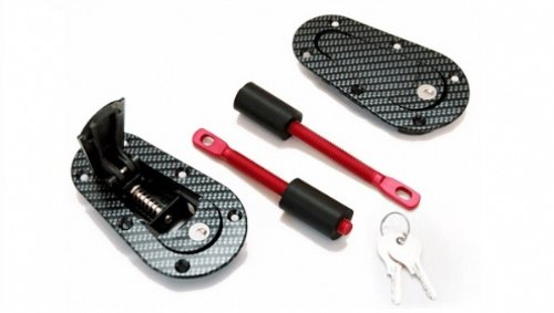 Pin Fiber Carbon Hood (AeroCatch Plus Flush Locking Hood Latch and Pin Kit - Black Carbon Fiber Look - Now includes Molded Fixing Plates - Part # 120-3100)