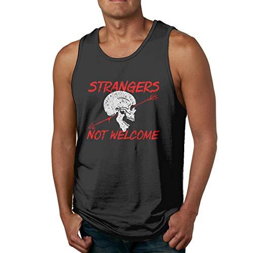 Men's Tank Tops Gym Vests Shirt Strangers Not
