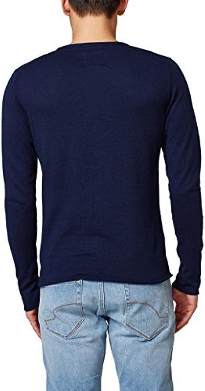 edc by ESPRIT sweter męski, kolor: niebieski (Navy 400) , rozmiar: xx-large: Odzież