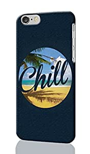"""Chill Pattern Image - Protective 3d Rough Case Cover - Hard Plastic 3D Case - For iPhone 6 - 4.7"""" inches"""