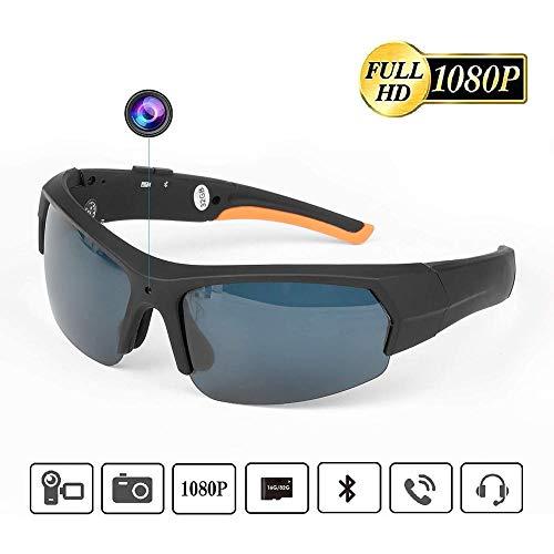 lembrd Portable Hidden Spy Camera Glasses, 32GB 1080P HD Video Recorder, Bluetooth Sunglasses With Sports Camera…