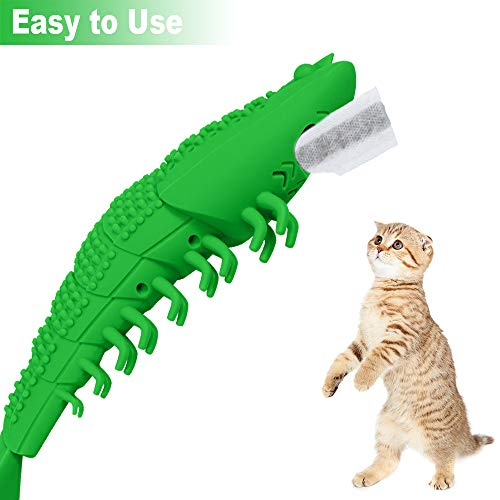 Transy Catnip Cat Toys, Interactive Cat Toothbrush Catnip Chew Toys, Chew Treat Toys for Kitten Kitty Cats Lobster Shape, Rubber Kitten Toys 6