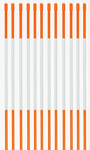"Driveway Markers, PRO Snow Stakes Reflective With Armor Cap, 4 Ft, 5/16"" (10 Pack, Orange)"
