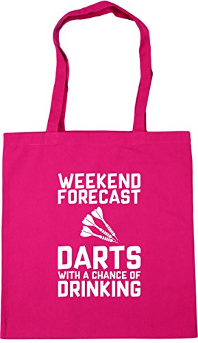 Shopping Beach of with litres Forecast Chance HippoWarehouse a 10 Tote Fuchsia Drinking Darts Weekend 42cm Gym x38cm Bag HzpwqxPA