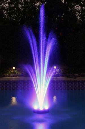 360 Rgb Led Color Changing Floating Fountain Pump Amp Light