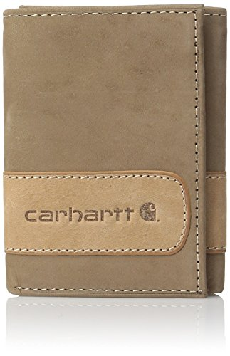 Carhartt Men's Two-Tone Trifold Wallet, Brown, One Size