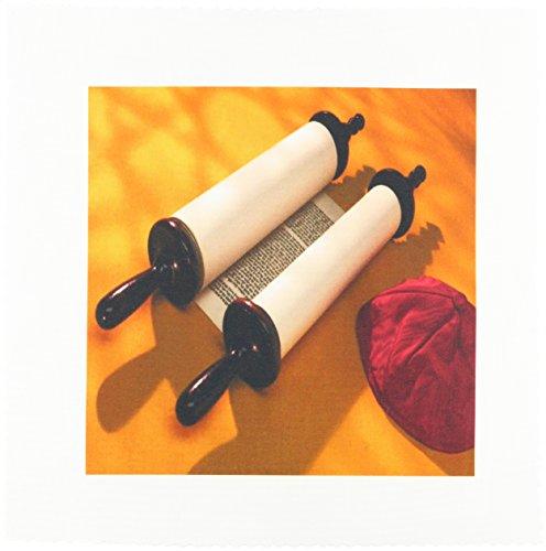 3dRose qs 53299 1 Scrolls Torah Quilt 10 Inch