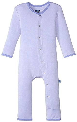 Kickee Pants Baby Girls Solid Coverall Prd Kpca212 Lcfmn  Lilac With Forget Me Not  0 3 Months