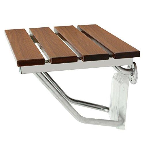 F2C Folding Wooden Wall Mounted Bathroom Bath Shower Bench Chair Seat