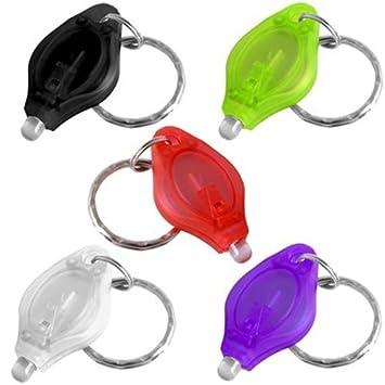 5X Farben Mini Weiß LED Taschenlampe +Schlüsselanhänger: Amazon.de ...