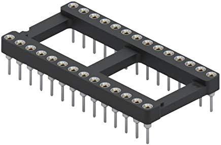 110 Series DIP Socket Beryllium Copper, 15.24 mm 110-47-628-41-001000 IC /& Component Socket 28 Contacts 2.54 mm Pack of 20