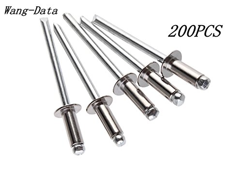 Open End Type Pop Rivet Grip Range 3//16-1//4 inch 4-4 SDTC Tech All-Aluminum Blind Rivets 1//8 x 1//4 100 pack