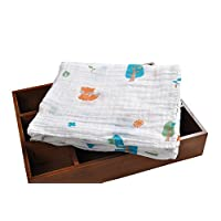 Muslin Swaddle Baby Receiving Blankets ,iSbaby 100% Organic Cotton Best White...