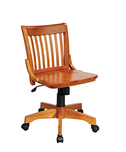 wood bankers desk chair - 3
