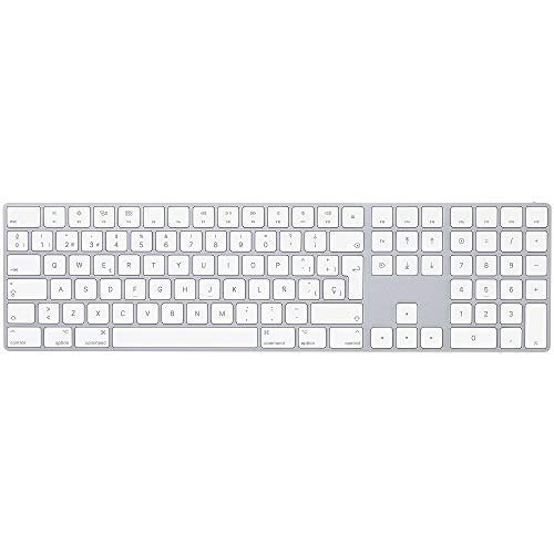 - Apple Magic Keyboard with Numeric Keypad (Wireless, Rechargable) (Spanish) - Silver