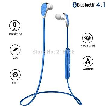 MU mantion Bionic Auricular Bluetooth-v4.1 + EDR auriculares estéreo inalámbricos pequeños Auriculares Bluetooth 4.1 para todos los teléfonos, ...