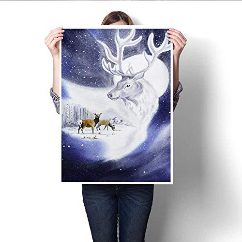 Anshesix Wall Art Canvas Prints Deer Handsome Stranger Print Paintings for Home Wall Office Decor 16