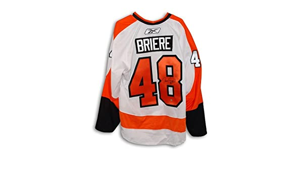 Danny Briere Signed Jersey - Autographed NHL Jerseys at Amazon s Sports  Collectibles Store f56dc6ab8