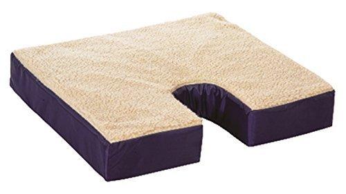 (Essential Medical Supply Fleece Gel Cushion with Coccyx Cut Out by Essential Medical Supply)