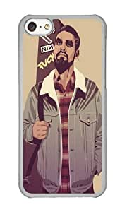 Apple Iphone 5C Case,WENJORS Adorable GAME OF THRONES 80 90s ERA CHARACTERS Khal Drogo Hard Case Protective Shell Cell Phone Cover For Apple Iphone 5C - PC Transparent