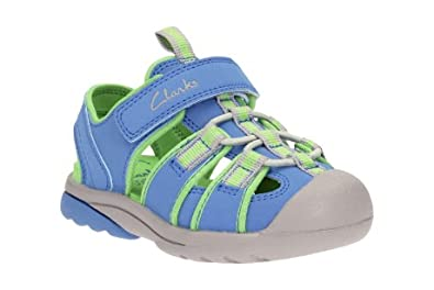 85b35f6e914e Clarks 1784-36F Beach Mate INF Blue Kids Sandals  Amazon.co.uk ...