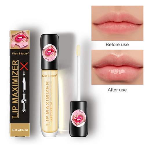 4pcs Lip Plumper Nourishing Lip Gloss Lip Enhancer Hydrating Lip Maximizer Lips Moisturizer Lip Care Serum for Fuller Shine Plump Lips Reduces Dryness Wrinkles - 5ml (The Best Lip Plumper Ever)