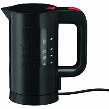 Bodum BISTRO Water Kettle, Electric Water Kettle, Black, 17 Ounce