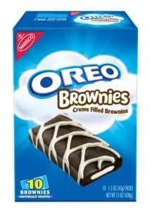 Nabisco Oreo Brownies, 10-1.5 oz Brownies Per Box (Pack of 3)