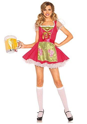 Leg Avenue Women's Beer Garden Gretel Costume, Pink, Small (Adult Gretel Costume)
