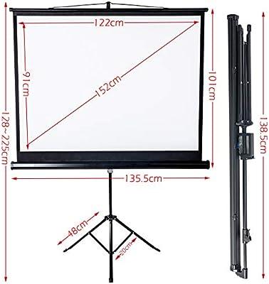Display4top Pantalla de Proyección con Trípode para Cine en casa y ...