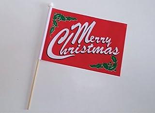 Merry Christmas Main Drapeau 22,9x 15,2cm (23cm x 15cm)–Lot de 12