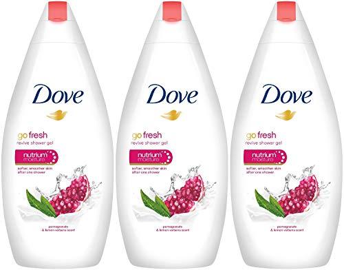 (Dove Go Fresh Revive Body Wash, Pomegranate 500 ML (16.9 oz) Pack of 3 )