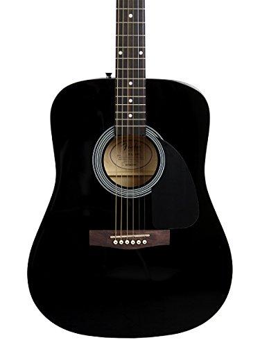 Fender FA-100 Dreadnought Acoustic Guitar - Black Bundle with Gig Bag, Tuner, Strings, Strap, and Picks - Image 4