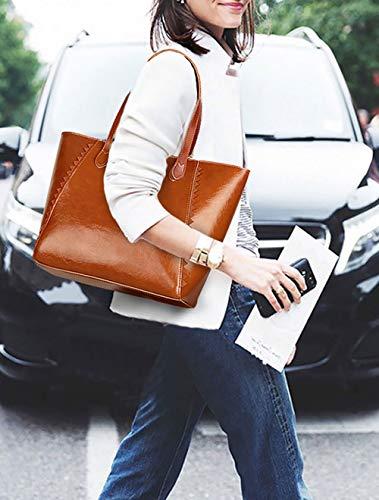 Borse Donna da DEERWORD Marrone mano a a polso Borsette Borse Marrone spalla Borse Messenger 1qHZxwxg