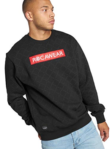 amp; Hauts Checked Homme Noir Rocawear sweat Pull qf004z